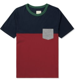 Band of Outsiders Navy/Red S/S Colorblock T-Shirt Picture