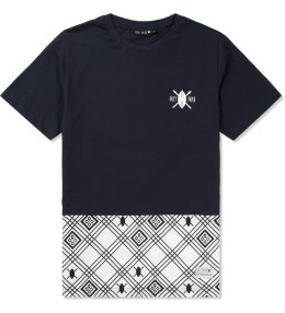 Daily Paper Navy Two Tone T-Shirt Picture