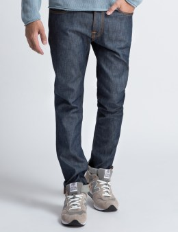 Nudie Jeans Lean Dean Dry Iron Blue Denim Jeans Picture
