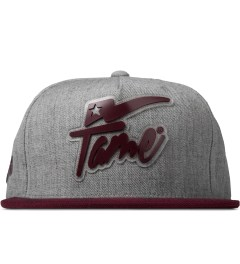 Hall of Fame Burgundy Champion Rubber Snapback Cap Picture