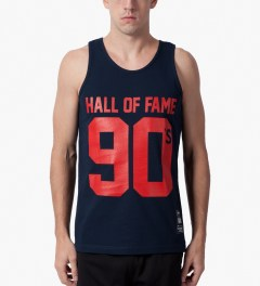 Hall of Fame Navy 90's Tank Top Model Picture
