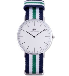 Daniel Wellington Nato Silver Classic Nottingham 40mm Watch Picture