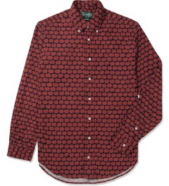 Gitman Bros. Vintage Navy/Red Apple Print Vintage Button Down Shirt Picutre