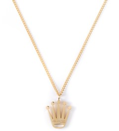 The Sneaker Studio Gold Crown Piece Necklace Picture
