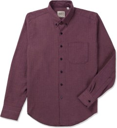 Naked & Famous Red/Blue Soft Herringbone Regular Shirt Picutre
