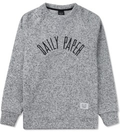 Daily Paper Grey Melange Script Logo Sweater Picture