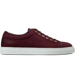 ETQ Maroon Waxed Low Top 1 Sneakers Picutre