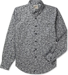 Naked & Famous Grey Panda Leopard Regular Shirt Picutre