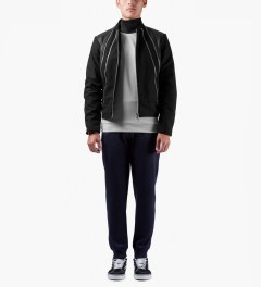 Kunz by Nicklas Kunz Black Four-Pocket Bomber Jacket Model Picutre