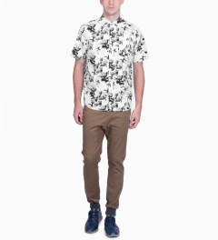HUF White Floral S/S Woven Shirt Model Picture