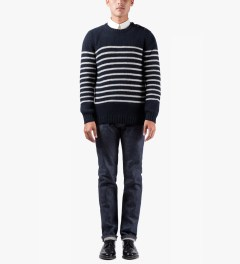 A.P.C. Dark Navy Marin Pullover Sweater Model Picture