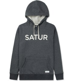 SATURDAYS Surf NYC Charcoal Heather Ditch Front and Back Hoodie Picture