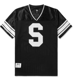 Stussy Black All City Football S/S Crew Jersey Picutre