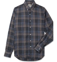 Naked & Famous Blue/Black Vintage Check Regular Shirt Picture