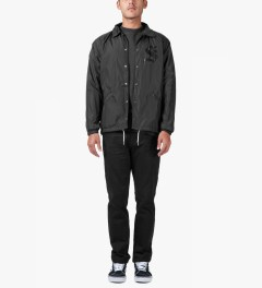 Stussy Black Washed Chino Pants III Model Picutre
