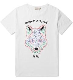 Maison Kitsune White 3D Fox Print Crewneck T-Shirt Picutre