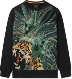 maharishi Black Pixelated Crewneck Sweater Picture