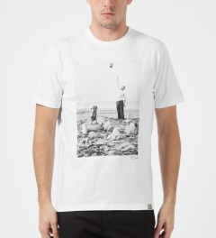 Carhartt WORK IN PROGRESS White/Multicolor Carhartt WIP x PSC Titan T-Shirt Model Picture