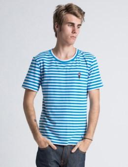 ICECREAM Navy/White Striped T-Shirt Picture
