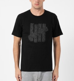 Undefeated Black Ink Strike T-Shirt Model Picture
