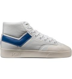 PONY White/Blue Vintage Slamdunk Hi Canvas Sneakers Picutre