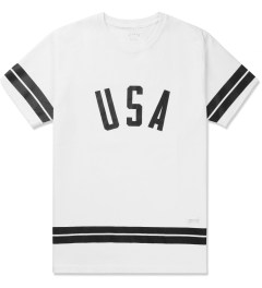 Stampd White USA Stripe T-Shirt Picture