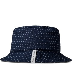 Raised by Wolves Navy Morocco Blues Gatineau Bucket Hat Model Picutre
