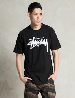 Stussy Black Glitch T-Shirt Picture
