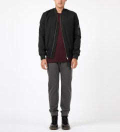 SILENT Damir Doma Black Jiolas Bomber Jacket Model Picture