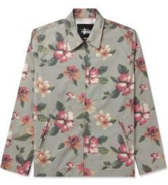 Stussy Khaki Vintage Flower Coach Jacket Picutre