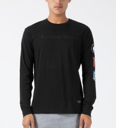 Raised by Wolves Black Wolfy L/S T-Shirt Model Picture