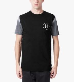 HUF Black/Grey 12 Galaxy Sleeve Wash T-Shirt Model Picutre