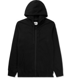 Reigning Champ Black RC-3260 Heavyweight Terry L/S Zip Front Hoodie Picture