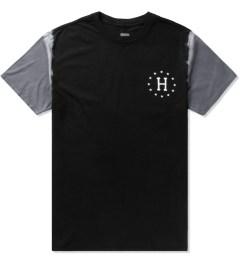 HUF Black/Grey 12 Galaxy Sleeve Wash T-Shirt Picutre