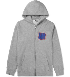 Undefeated Heather Grey Double 5 Strike App Zip Up Jacket Picutre