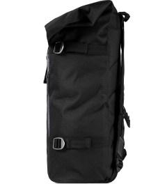 Poler Black Roll-Top Backpack Model Picutre