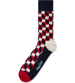 Happy Socks Blue/Red Filled Optic Socks Picture