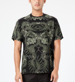 maharishi Black Pixel Panther Slouch T-Shirt Model Picture