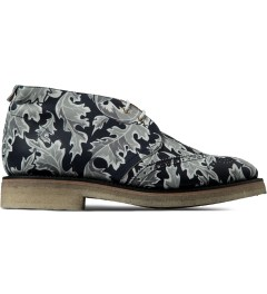 Thom Browne Navy Leaf Camo Print Wingtip Chukka Boots Picutre