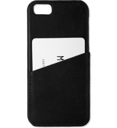 MUJJO Black Leather iPhone 5 Wallet Case Model Picture