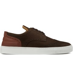 Filling Pieces Elephant Embossed Brown Brogue Shoe Picutre