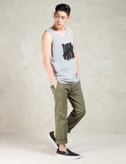 UNDEFEATED Grey Heather Strike Block Tank Top Picture