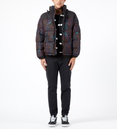Lazy Oaf Black Midnight Lizard Puffer Jacket Model Picture