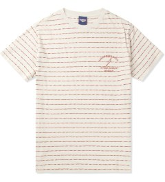 Lightning Bolt Pompeian Red Mirror Thin Stripes Pocket T-Shirt Picutre