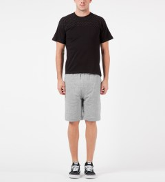 LAPSE Grey Melange Mirage Sweatshorts Model Picture