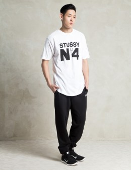 Stussy White No. 4 T-Shirt Picture