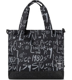 Stussy Black Print Stussy x Herschel Supply Co. Cities Tote Bag Picutre