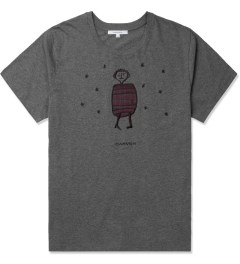 Carven Mottled Grey Little Chap Embroidered T-Shirt Picture