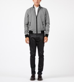 Band of Outsiders Grey Quilted Shirt Jacket Model Picture