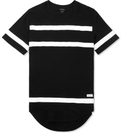 Stampd Black Thin Stripe Elongated T-Shirt Picture